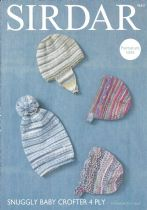Sirdar Snuggly Baby Crofter 4ply - 4663 Hat, Helmet and Bonnets Knitting Pattern